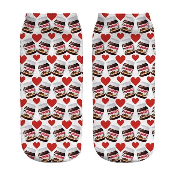 "Perfect socks for anyone who loves Nutella! Gift idea. /""I /<3 Nutella/"" socks"