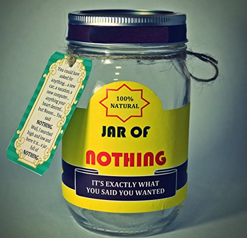 Jar Of Nothing White Elephant Gift Funny Gift For Boyfriend Gift For Girlfriend Gift For Men Women Gift For Funny White Elephant Gifts Prank Ideas